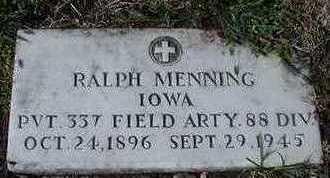 MENNING, RALPH - Sioux County, Iowa   RALPH MENNING