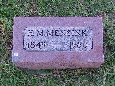 MENSINK, H. M. - Sioux County, Iowa | H. M. MENSINK