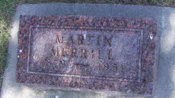 MERRILL, MARTIN - Sioux County, Iowa   MARTIN MERRILL