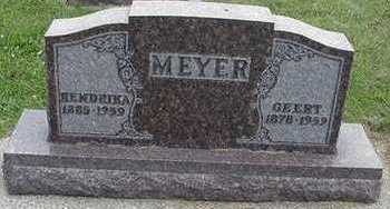 MEYER, HENDRIKA - Sioux County, Iowa | HENDRIKA MEYER