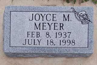 MEYER, JOYCE M. - Sioux County, Iowa   JOYCE M. MEYER