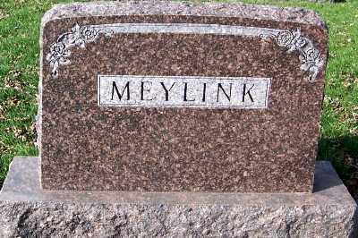 MEYLINK, HEADSTONE - Sioux County, Iowa | HEADSTONE MEYLINK