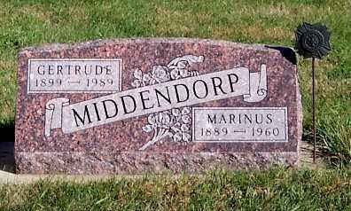 MIDDENDORP, MARINUS - Sioux County, Iowa | MARINUS MIDDENDORP