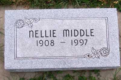 MIDDLE, NELLIE (1908-1997) - Sioux County, Iowa   NELLIE (1908-1997) MIDDLE