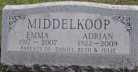 MIDDLEKOOP, EMMA - Sioux County, Iowa   EMMA MIDDLEKOOP