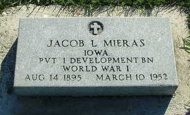 MIERAS, JACOB L. - Sioux County, Iowa | JACOB L. MIERAS