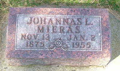 MIERAS, JOHANNA L. . - Sioux County, Iowa | JOHANNA L. . MIERAS