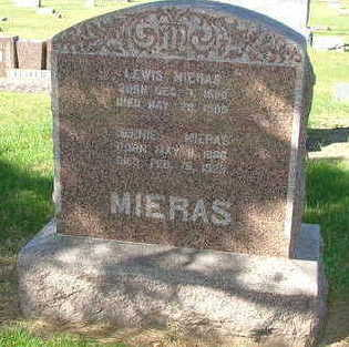 MIERAS, JENNIE (MRS. LEWIS) - Sioux County, Iowa | JENNIE (MRS. LEWIS) MIERAS