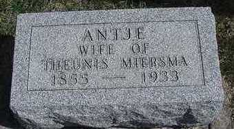 MIERSMA, ANTJE  (MRS. TEUNES) - Sioux County, Iowa | ANTJE  (MRS. TEUNES) MIERSMA