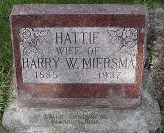 MIERSMA, HATTIE (MRS. HARRY) - Sioux County, Iowa | HATTIE (MRS. HARRY) MIERSMA