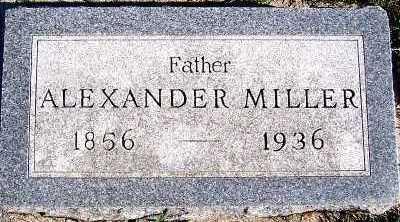 MILLER, ALEXANDER - Sioux County, Iowa | ALEXANDER MILLER