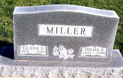 MILLER, HILDA E. - Sioux County, Iowa   HILDA E. MILLER