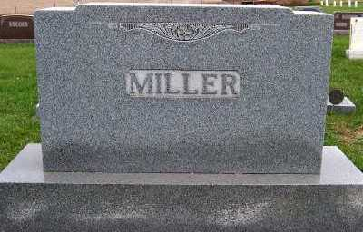 MILLER, HEADSTONE - Sioux County, Iowa | HEADSTONE MILLER