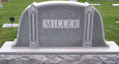 MILLER, HEADSTONE - Sioux County, Iowa   HEADSTONE MILLER