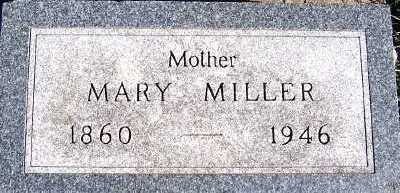 MILLER, MARY (1860-1946) - Sioux County, Iowa   MARY (1860-1946) MILLER