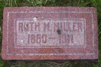 MILLER, RUTH M. - Sioux County, Iowa   RUTH M. MILLER