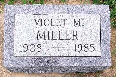 MILLER, VIOLET M. - Sioux County, Iowa   VIOLET M. MILLER