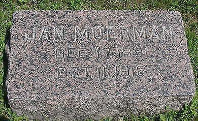 MOERMAN, JAN - Sioux County, Iowa   JAN MOERMAN
