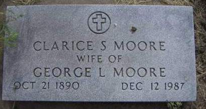 MOORE, CLARICE S. (MRS. GEORGE) - Sioux County, Iowa | CLARICE S. (MRS. GEORGE) MOORE