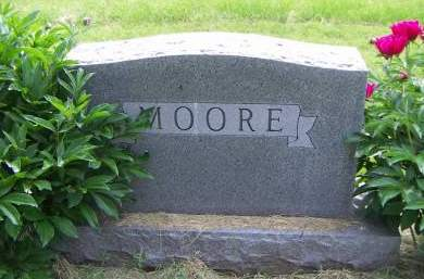 MOORE, HEADSTONE - Sioux County, Iowa | HEADSTONE MOORE