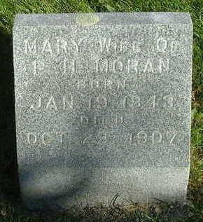 MORAN, MARY (MRS. P. H.) - Sioux County, Iowa   MARY (MRS. P. H.) MORAN
