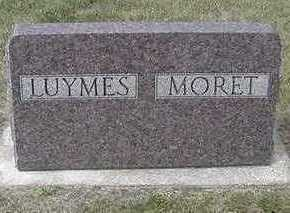 MORET - LUYMES, HEADSTONE - Sioux County, Iowa | HEADSTONE MORET - LUYMES