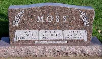MOSS, GERTRUDE (MRS. JOHN) - Sioux County, Iowa   GERTRUDE (MRS. JOHN) MOSS