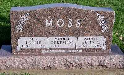 MOSS, JOHN E. - Sioux County, Iowa | JOHN E. MOSS
