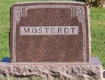 MOSTERDT, HEADSTONE - Sioux County, Iowa | HEADSTONE MOSTERDT