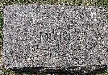 MOUW, BERRETJE E. - Sioux County, Iowa | BERRETJE E. MOUW