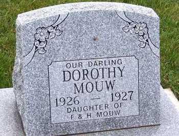MOUW, DOROTHY (DAU OF F.& H.) - Sioux County, Iowa | DOROTHY (DAU OF F.& H.) MOUW
