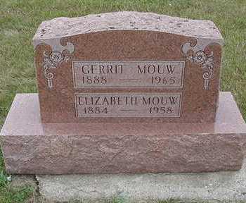 MOUW, ELIZABETH - Sioux County, Iowa   ELIZABETH MOUW
