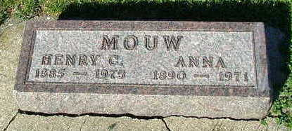 MOUW, ANNA (MRS. HERMAN) - Sioux County, Iowa | ANNA (MRS. HERMAN) MOUW