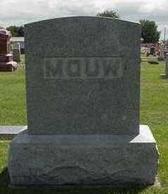 MOUW, HEADSTONE - Sioux County, Iowa   HEADSTONE MOUW