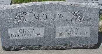 MOUW, MARY - Sioux County, Iowa   MARY MOUW