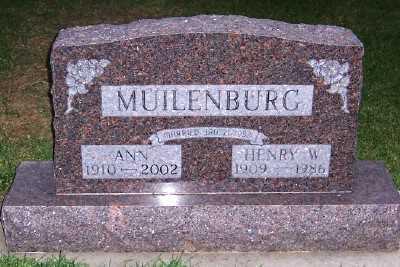 MUILENBURG, ANN (1887-1963) - Sioux County, Iowa | ANN (1887-1963) MUILENBURG