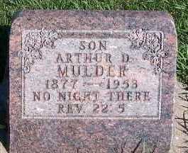 MULDER, ARTHUR D. - Sioux County, Iowa | ARTHUR D. MULDER