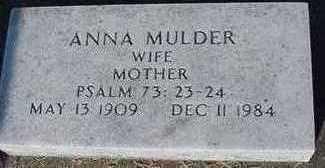 MULDER, ANNA (MRS. JACOB) - Sioux County, Iowa | ANNA (MRS. JACOB) MULDER