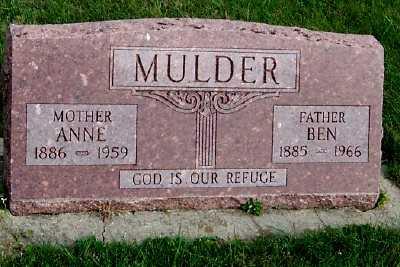 MULDER, ANNE - Sioux County, Iowa | ANNE MULDER