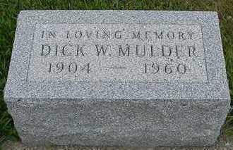 MULDER, DICK  D.1960 - Sioux County, Iowa   DICK  D.1960 MULDER