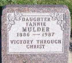 MULDER, FANNIE - Sioux County, Iowa | FANNIE MULDER