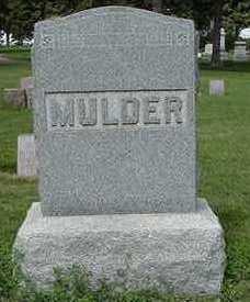 MULDER, HEADSTONE - Sioux County, Iowa | HEADSTONE MULDER