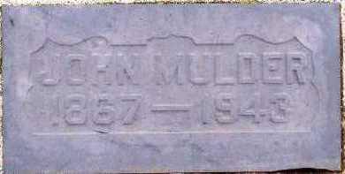 MULDER, JOHN (1867-1943) - Sioux County, Iowa | JOHN (1867-1943) MULDER