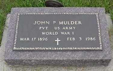 MULDER, JOHN P. - Sioux County, Iowa | JOHN P. MULDER