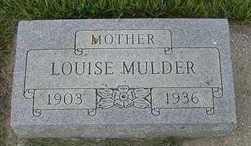 MULDER, LOUISE - Sioux County, Iowa   LOUISE MULDER