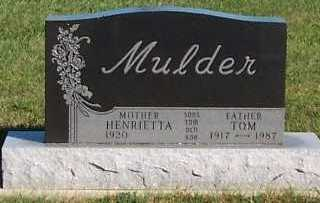 MULDER, TOM - Sioux County, Iowa | TOM MULDER