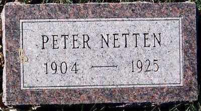 NETTEN, PETER - Sioux County, Iowa   PETER NETTEN
