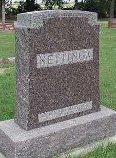 NETTINGA, HEADSTONE - Sioux County, Iowa | HEADSTONE NETTINGA