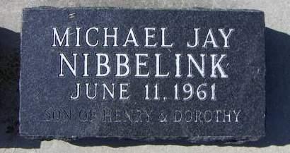 NIBBELINK, MICHAEL JAY - Sioux County, Iowa   MICHAEL JAY NIBBELINK