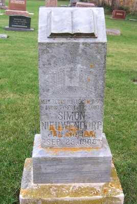 NIEUWENDORP, SIMON - Sioux County, Iowa   SIMON NIEUWENDORP
